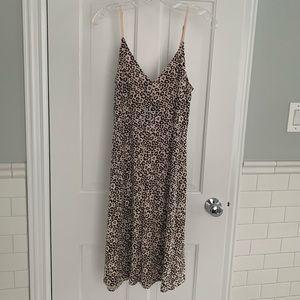 ATM Lunar Leopard Slip Dress Medium NWT